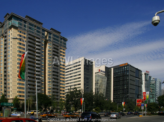 China, Beijing. Recently completed office buildings in the centre of Beijing.