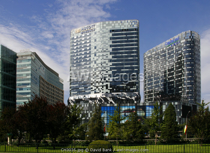 awl-images.com - China / China, Beijing. Recently completed office buildings in the centre of Beijing