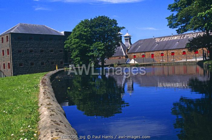 Northern Ireland, County Antrim. Bushmills Distillery, Bushmills, Co. Antrim, Northern Ireland, U.K.