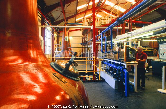 Northern Ireland, County Antrim.Bushmills Distillery, Bushmills, Co. Antrim, Northern Ireland, U.K.