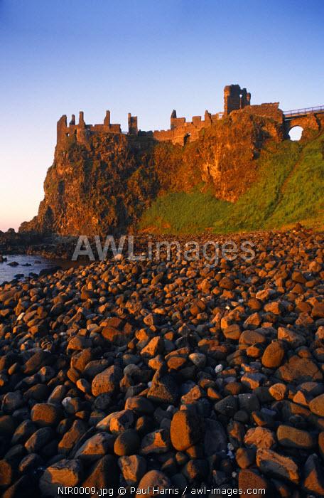 Northern Ireland, County Antrim.Dunluce Castle, Port Balintrae, Co. Antrim, Northern Ireland, U.K.