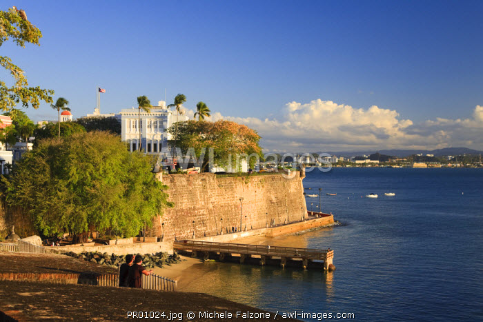 Puerto Rico, San Juan, Old Town, Paseo Del Morro and La Muralla