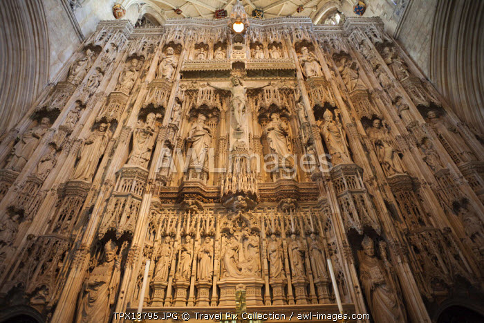 England, Hampshire, Winchester, Winchester Cathedral, Detail of the Quire