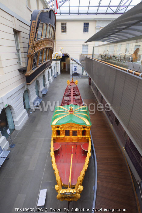 England, London, Greenwich, National Maritime Museum, Prince Frederick's Barge dated 1732
