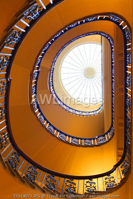England, London, Somerset House, Stairway in the Courtauld Gallery