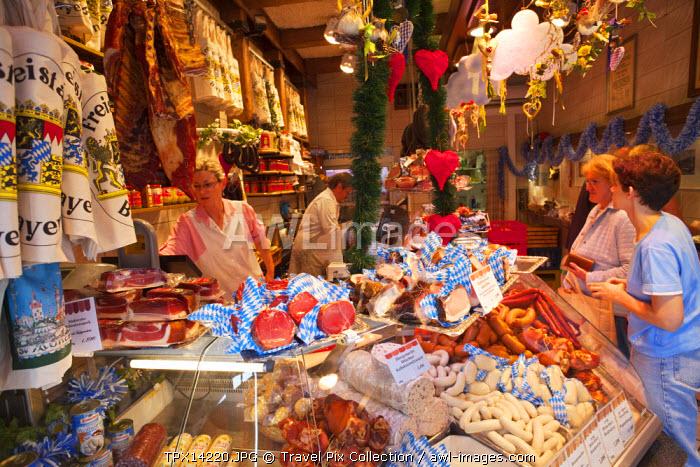 Germany, Bavaria, Munich, Viktualienmarkt, Meat Shop