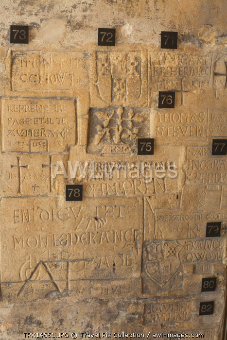 England, London, Tower of London, Graffiti by Prisoners in the Beauchamp Tower