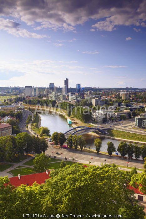 Lithuania, Vilnius, View Of Business District