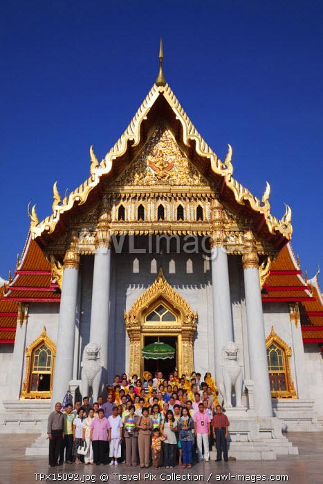 Thailand, Bangkok, Marble Temple, Wat Benchamabophit