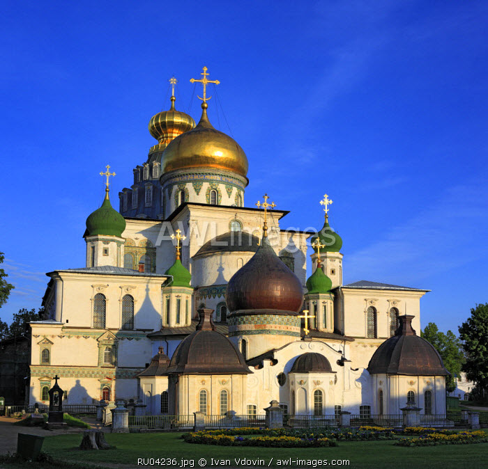 The Resurrection cathedral (1685) in New Jerusalem monastery, Istra, Moscow region, Russia