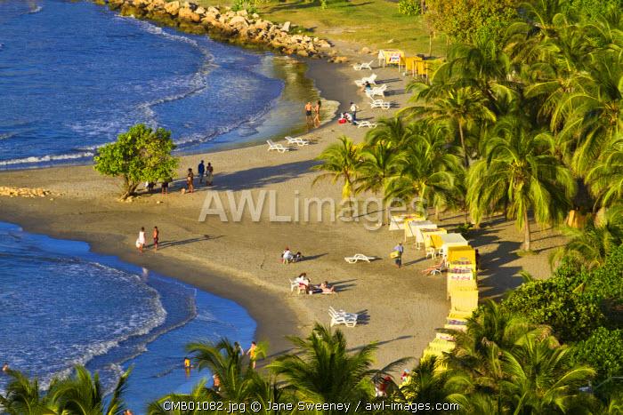 Colombia, Bolivar, Cartagena De Indias, Bocogrande beach