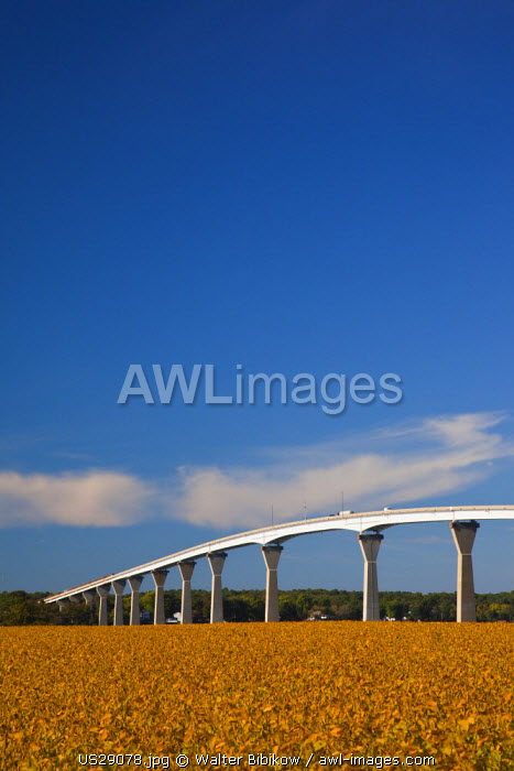USA, Maryland, Western Shore of Chesapeake Bay, Solomons, Patuxent River Bridge