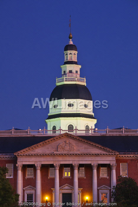 USA, Maryland, Annapolis, Maryland State House building