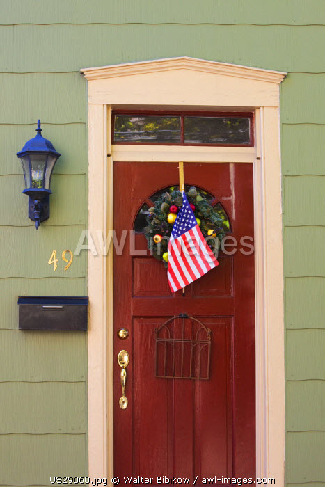 USA, Maryland, Annapolis, historic building details