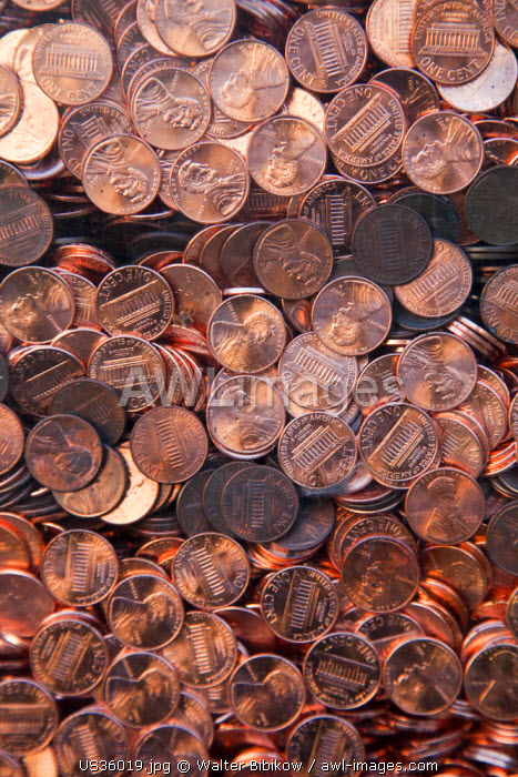 USA, Mississippi, Jackson, Memorial to the Missing, penny coins representing human lives