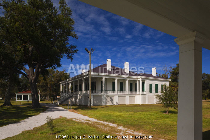 USA, Mississippi, Biloxi, Beauvoir, The Jefferson Davis Home and Presidential Library, former home of US Civil War-era Confederate President, Beauvoir House and Library Pavillion