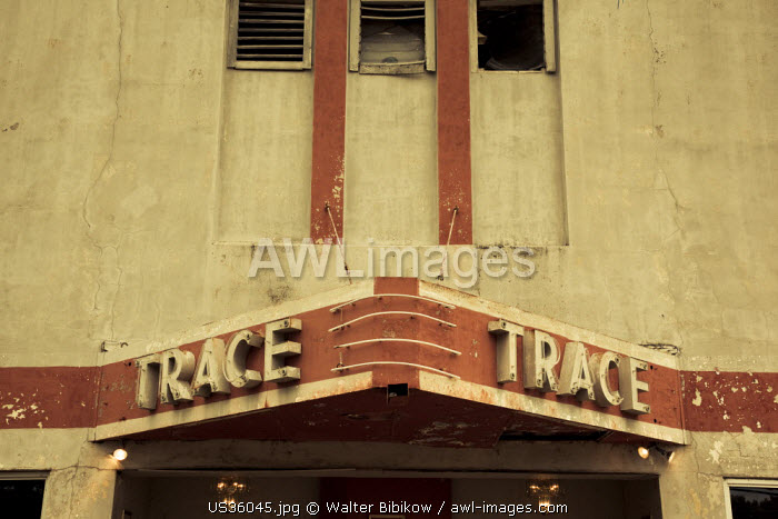 USA, Mississippi, Port Gibson, art deco Trace Theater