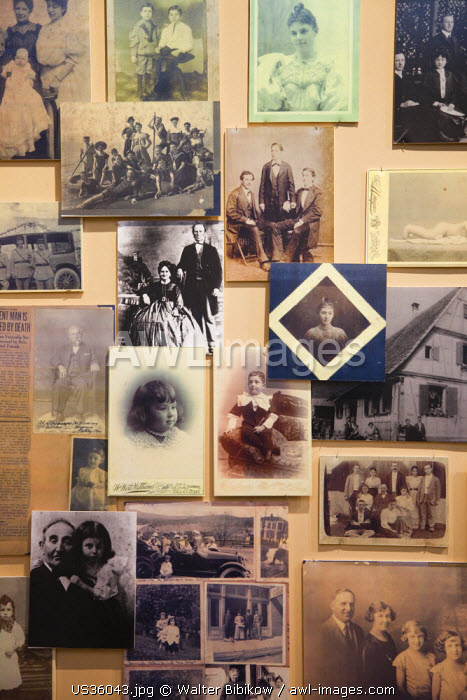 USA, Mississippi, Utica, Henry Jacobs Camp, Museum of the Southern Jewish Experience, old photos of Jewish emigres from the Alsace region of France