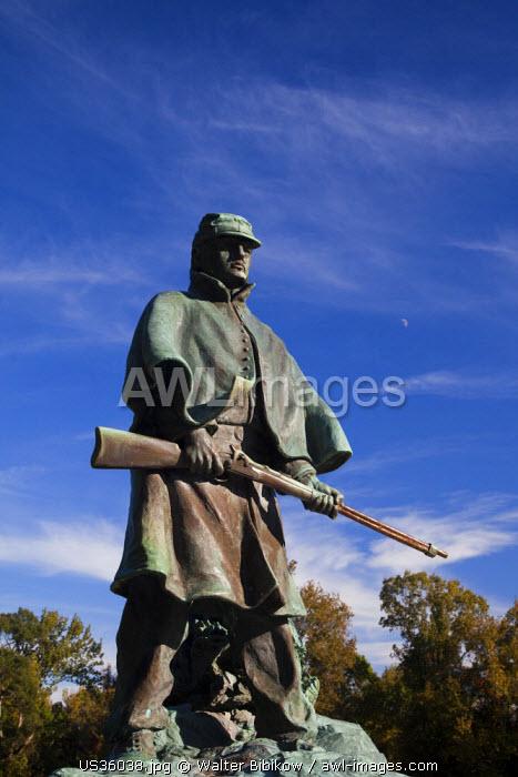 USA, Mississippi, Vicksburg, Vicksburg National Military Park, US Civil War-era battlefield, Wisconsin Soldiers Monument
