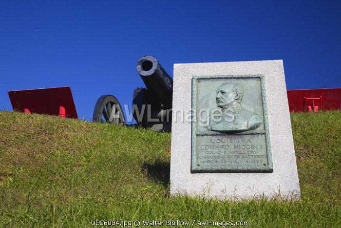 USA, Mississippi, Vicksburg, Riverfront Park, US Civil War battle monument