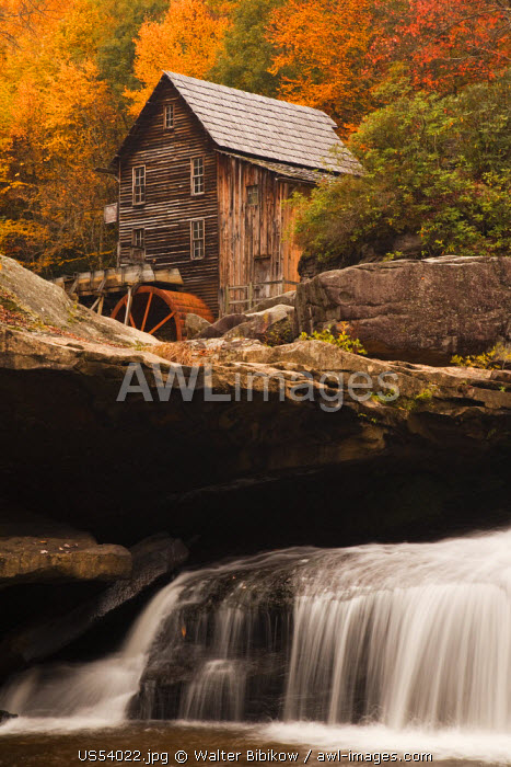 USA, West Virginia, Clifftop, Babcock State Park, The Glade Creek Grist Mill