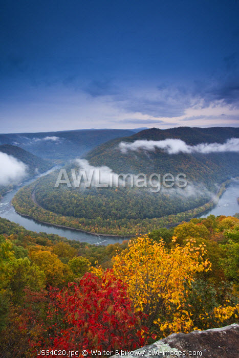 USA, West Virginia, Beckley-area, Grandview, New River Gorge National River, Grandview overlook