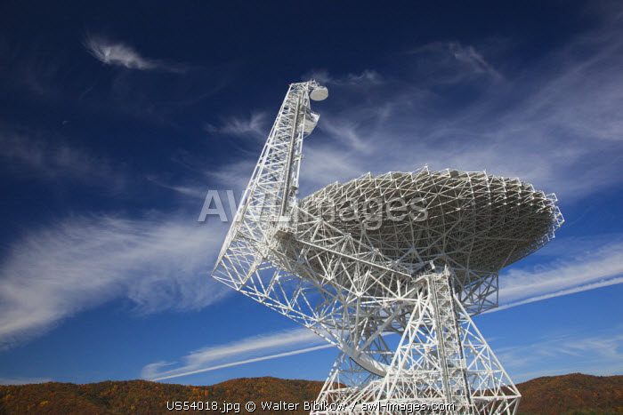USA, West Virginia, Green Bank, National Radio Astronomy Observatory, Robert C. Byrd Green Bank Telescope (GBT), the world's largest fully steerable radio telescope