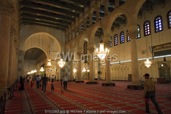 Syria, Damascus, Old, Town, Umayyad Mosque, Prayer Hall