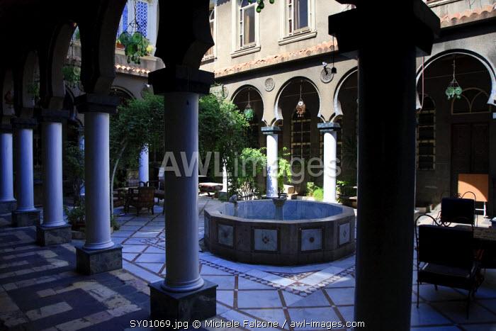Syria, Damascus, Old Town, Bab Touma Quarter, Nassan Palace (Historic Traditional Damascene House)