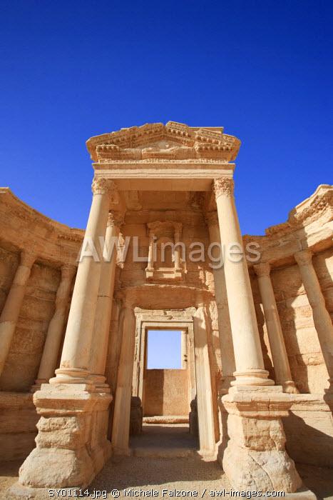 Syria, Palmyra ruins (UNESCO Site), Theatre