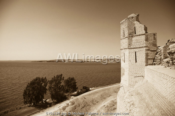 Syria, Euphrates river , Ath Thaura, Lake Al-Assad and Qalaat Jaabar Castle