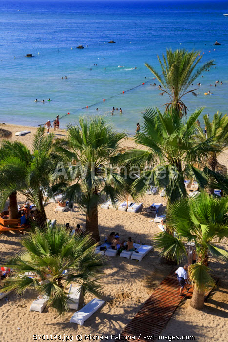 Syria, Northern Coast, Lattakia, Shaati al Azraq Beach Resort (Syria's premier coastal resort)