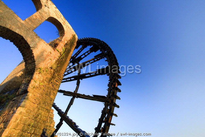 Syria, Hama old Town and 13th Century Water Wheels (Norias)