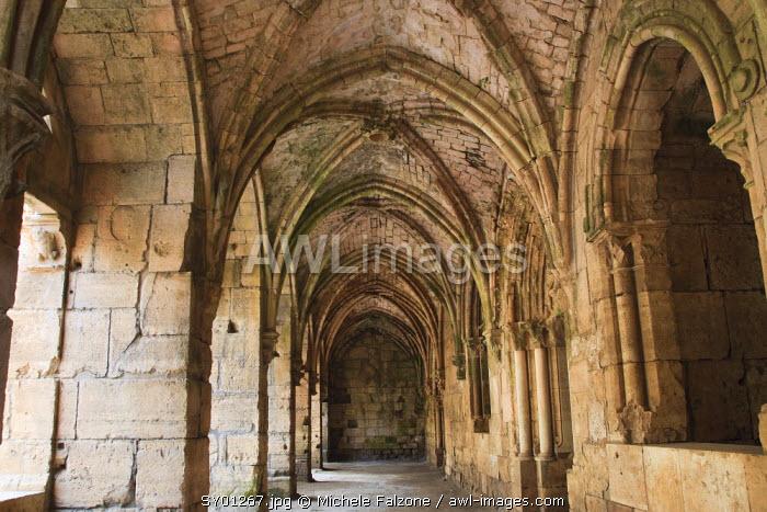 Syria, crusader's castle of Krak Des Chevaliers (Qala'at al Hosn), a UNESCO Site, Gothic Portico