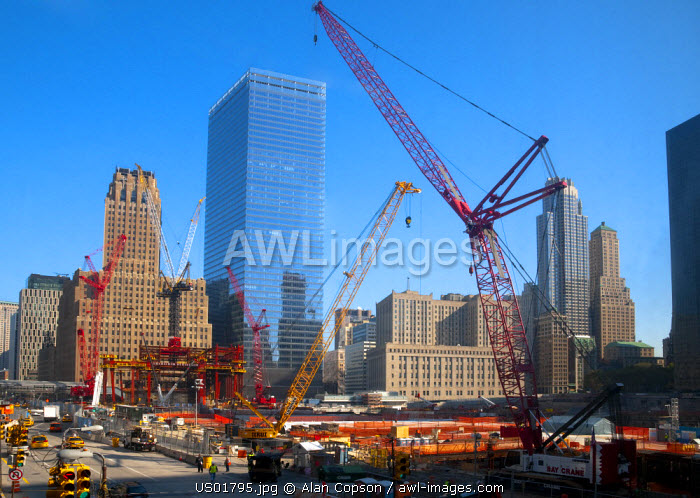 USA, Manhattan, Downtown, World Trade Center construction site