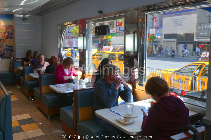 USA, Manhattan, Midtown, Tic Toc Diner
