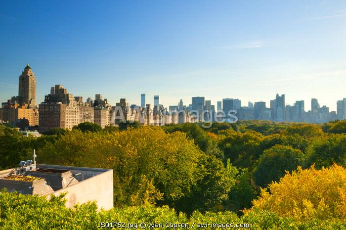 USA, New York, Manhattan, Central Park from Metropolitan Museum of Art