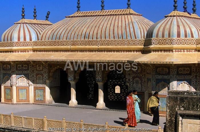 India, Rajasthan, Jaipur.  The Royal Apartments at Amber Fort