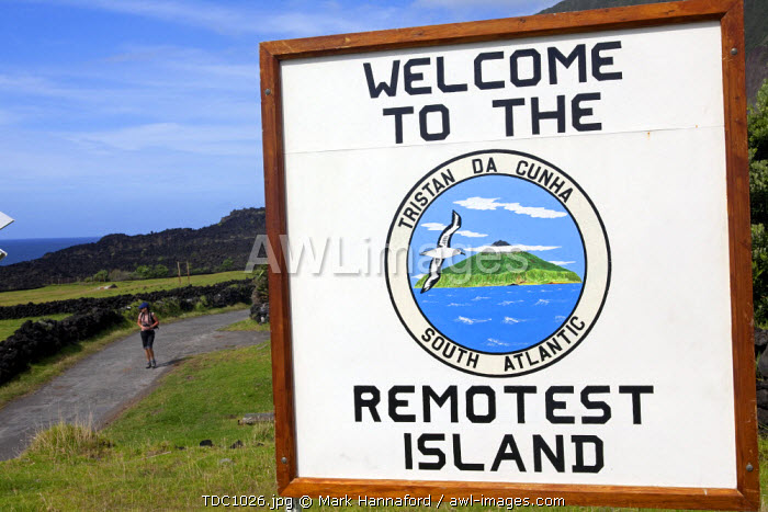 Tristan Da Cunha Island, settlement capital of Edinburgh. The worlds most remote inhabited island (MR)