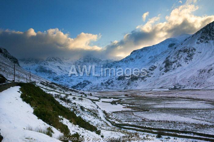 UK, Wales, Comwy-Gwynedd, Dyffryn Ogwen or Ogwen Valley