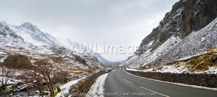 UK, Wales, Gwynedd, Llanberis Pass or Bwlch Llanberis