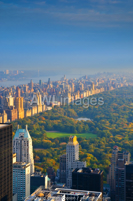 USA, New York, Manhattan, Central Park from Top of the Rock at the Rockefeller Center