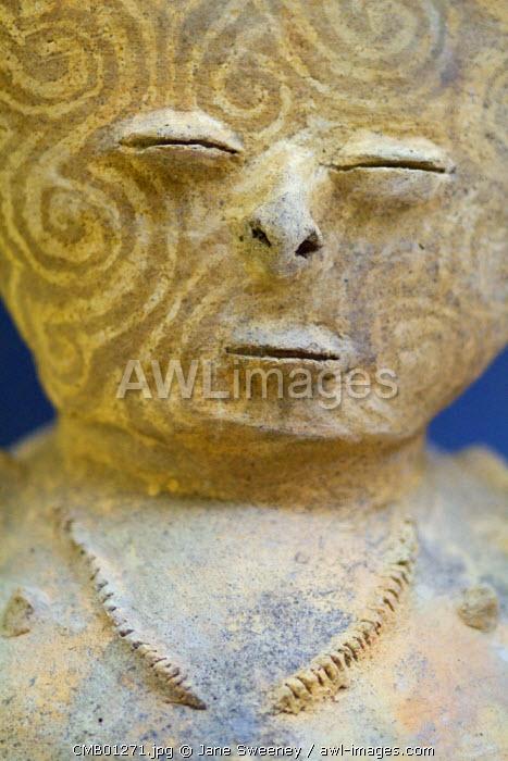 Colombia, Bolivar, Cartagena De Indias, Old Walled city, Plaza de Bolivar, Gold and Archaeology Museum, Ceramic figure