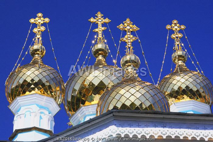 Onion domes of St Nicholas Cathedral, Almaty, Kazakhstan
