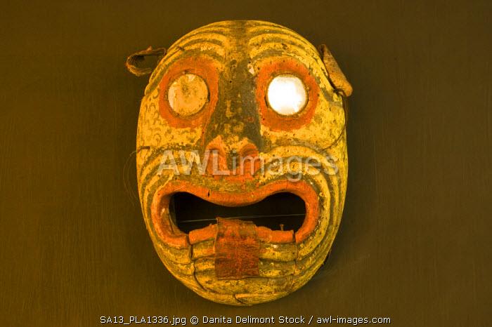 Mexico, Zacatecas. Mask collection at the Pedro Coronel Museum (Ex-Colegio de San Luis Gonzaga)
