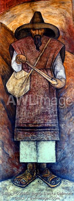 Mexico. Diego Rivera murals in the Secretary of Public Education.