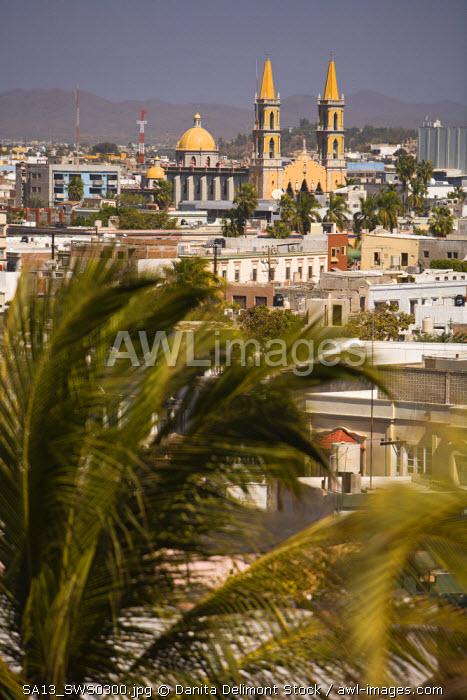 Aerial View of Mazatlan from Cerra de la Cruz Hill, Sinaloa State, Mexico
