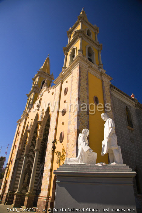 Cathedral of Immaculate Conception, built in 1856 with a mix of Spanish and Moorish style, Old Town Historic District, Colonial Mazatlan, Sinaloa State, Mexico