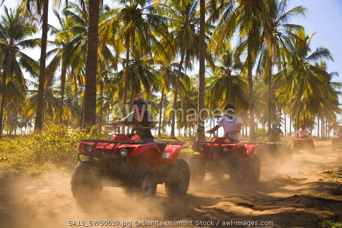 drivers, ATV Tour, Stone Island, Mazatlan, Sinaloa State, Mexico (MR)