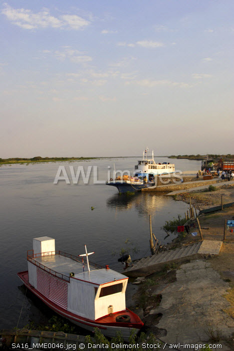 Fuerte Olimpo; Brazil is on the opposite bank or the river. Navigation along the Paraguay river onboard of M/N Aquidaban, which makes regular passengers and freight service.